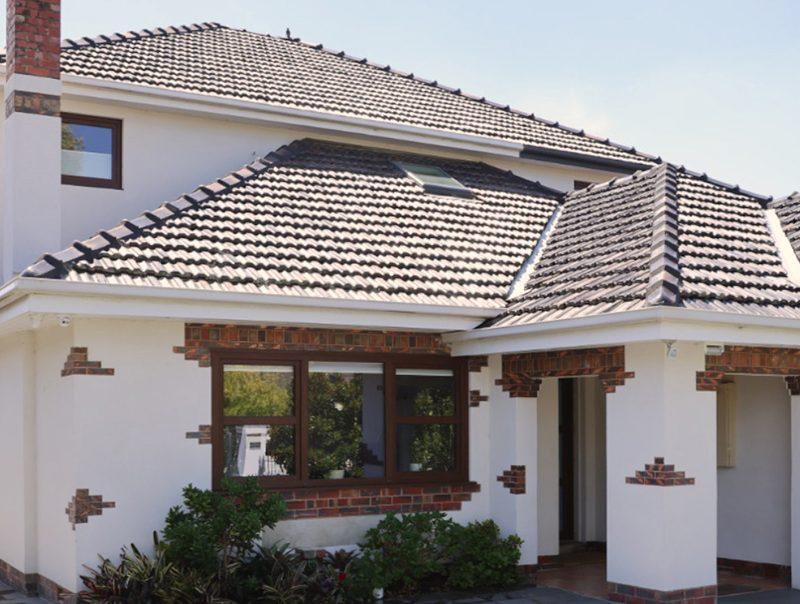 White rendered house