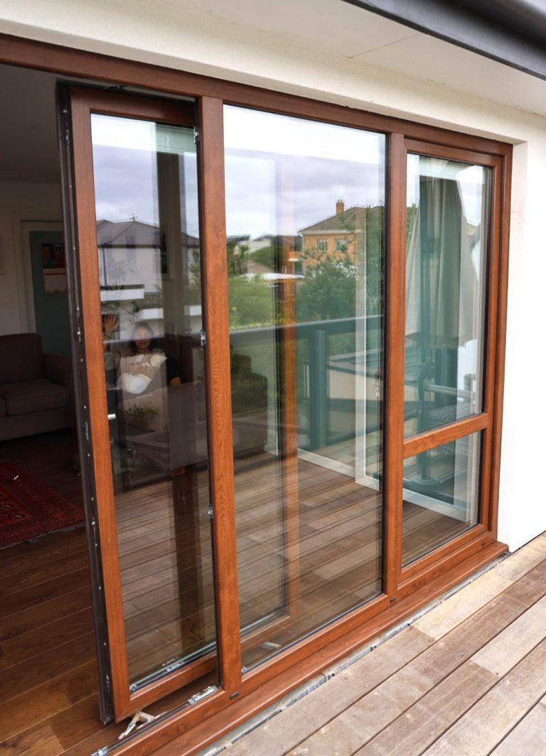 sliding window door
