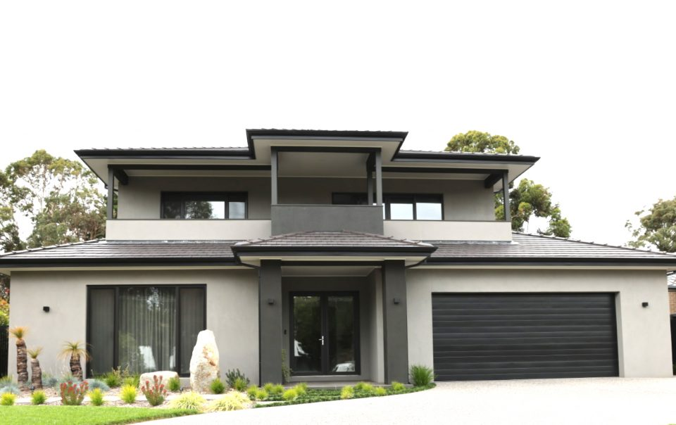 Grey black modern home